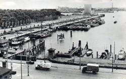 De Spes Mea in de Parkhaven in Rotterdam voor de sluis in 1959